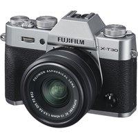 FUJIFILM X-T30 Mirrorless Camera with FUJINON XC 15-45 mm f/3.5-5.6 OIS PZ Lens - Silver, Silver