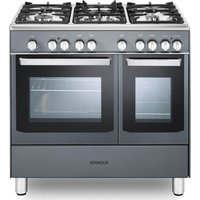 CK406SL 90 cm Dual Fuel Range Cooker - Slate Grey & Chrome, Grey
