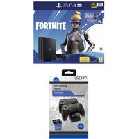 SONY PlayStation 4 Pro with Fortnite Neo Versa & Twin Docking Station - 1 TB, Red