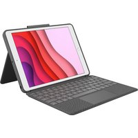 "LOGITECH Combo Touch iPad 10.2"" Keyboard Folio Case - Grey, Grey"