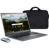 "ACER 715 15.6"" Chromebook, Bag & Mouse Bundle - Intel®Core™ i3, 128 GB eMMC, Grey, Grey"