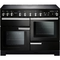 RANGEMASTER Professional Deluxe 110 Induction Range Cooker - Black & Chrome, Black