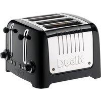 DUALIT DL4B 4-Slice Toaster - Black, Black