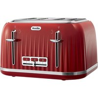 Buy BREVILLE Impressions VTT783 4-Slice Toaster - Venetian Red, Red - Currys