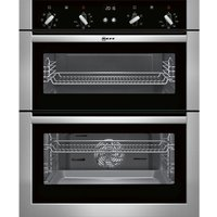 NEFF  U17M42N5GB Electric Built-under Double Oven - Stainless Steel, Stainless Steel