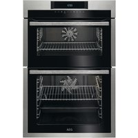 AEG DCE731110M Electric Double Oven - Stainless Steel and Black, Stainless Steel