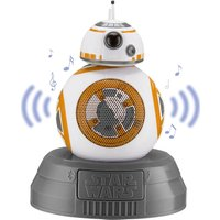 STAR WARS BB8 Portable Bluetooth Wireless Speaker - White, Gold & Grey, White