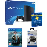 PlayStation 4 Pro, God of War, Docking Station & PS Plus Bundle, Red