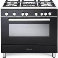 KENWOOD CK307G 90 cm Gas Range Cooker – Black and Chrome, Black