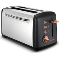 Click to view product details and reviews for Morphy Richards Rose Gold Collection 245036 4 Slice Toaster Black Rose Gold Gold.