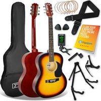 3RD AVENUE STX10 Acoustic Guitar Premium Bundle - Sunburst