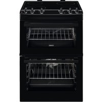 ZANUSSI ZCV66050BA 60 cm Electric Ceramic Cooker - Black, Black