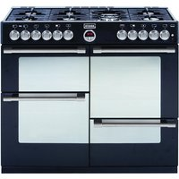 STOVES Sterling R1000DFT Dual Fuel Range Cooker - Black, Black