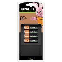 DURACELL CEF15 4-Battery Charger with Batteries.