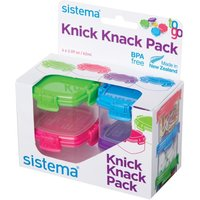 SISTEMA 21127 Knick Knack Square 62 ml Boxes - Pack of 4