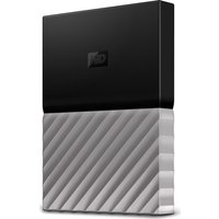 WD My Passport Ultra Portable Hard Drive - 1 TB, Black & Grey, Black