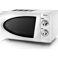 SWAN SM3090N Compact Solo Microwave - White, White