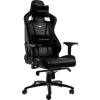 NOBLE CHAIRS Epic Gaming Chair - Black and Gold, Black