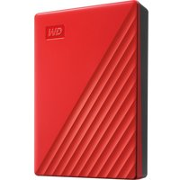 My Passport Portable Hard Drive - 4 TB, Red, Red