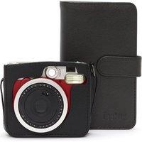 INSTAX Mini 90 Instant Camera with Photo Album, Case & 10 Shots Bundle - Black