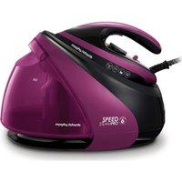 MORPHY RICHARDS Speed Steam Pro Intel®itemp 332102 Steam Generator Iron - Black & Purple, Black