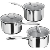 STELLAR S7A1D 7000 3-piece Saucepan Set - Stainless Steel, Stainless Steel