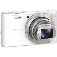 Sony Cyber-shot DSC-WX350W Superzoom Compact Camera - White, White