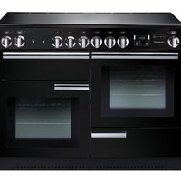 RANGEMASTER Professional 110 Electric Ceramic Range Cooker - Black and Chrome, Black