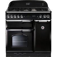 RANGEMASTER Classic 90 Gas Range Cooker - Black & Chrome, Black