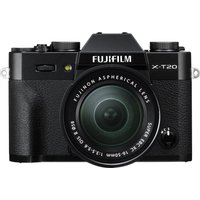 FUJIFILM X-T20 Compact System Camera with XC 16-50 mm MK II f/3.5-5.6 Zoom Lens - Black, Black