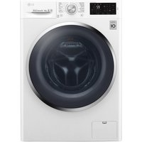 LG F4J6AM2W NFC 8 kg Washer Dryer - White, White