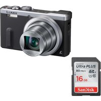 PANASONIC Lumix DMC-TZ60EB-S Superzoom Compact Camera & Memory Card Bundle