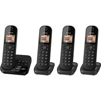 Click to view product details and reviews for Panasonic Kx Tgc424eb Cordless Phone With Answering Machine Quad Handsets.