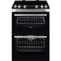 ZANUSSI ZCV660TRXE 60 cm Electric Ceramic Cooker - Stainless Steel, Stainless Steel