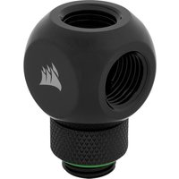 CORSAIR Hydro X Series XF Y Splitter Rotary Fitting Adapter   G1 4   Black  Black