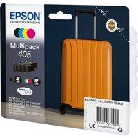 EPSON Suitcase 405 Cyan, Magenta, Yellow & Black Ink Cartridges - Multipack, Cyan