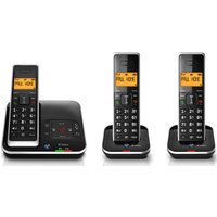 BT Xenon 1500 Cordless Phone with Answering Machine Triple Handsets
