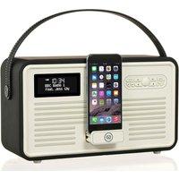 Viewquest Retro Mk II Portable DAB Bluetooth Clock Radio - Black, Black