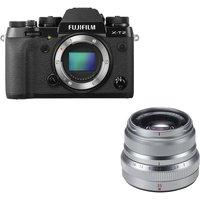 FUJIFILM X-T2 Mirrorless Camera & Fujinon XF 35 mm f/2 R WR Standard Prime Lens Bundle