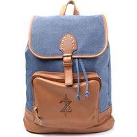 NINTENDO Zelda Breath of the Wild Game Logo Backpack - Denim, Blue