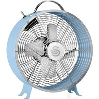 Retro SFA12630BLN Portable 8  Desk Fan   Blue  Blue