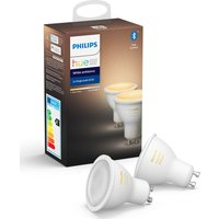 Philips Hue White Ambiance Bluetooth LED Bulb - GU10, Twin Pack, White