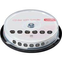 LOGIK 10x Speed CD-RW Blank CDs - Pack of 10.