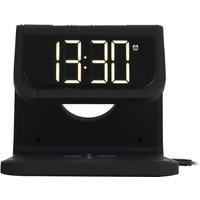 AKAI A58125 Alarm Clock - Black, Black