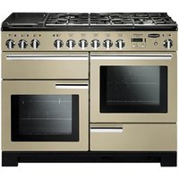 Rangemaster Professional Deluxe 110 Dual Fuel Range Cooker - Cream & Chrome, Cream
