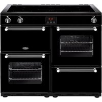 BELLING Kensington 100Ei Electric Induction Range Cooker - Black and Chrome, Black