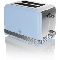 Buy SWAN ST19010BLN 2-Slice Toaster - Blue, Blue - Currys