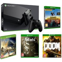 MICROSOFT Xbox One X, Games & Controller Bundle