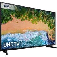 50 Samsung Ue50nu7020 Smart 4k Ultra Hd Hdr Led Tv, Gold