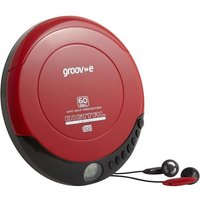 GROOV-E Retro GV-PS110-RD Personal CD Player - Red, Red